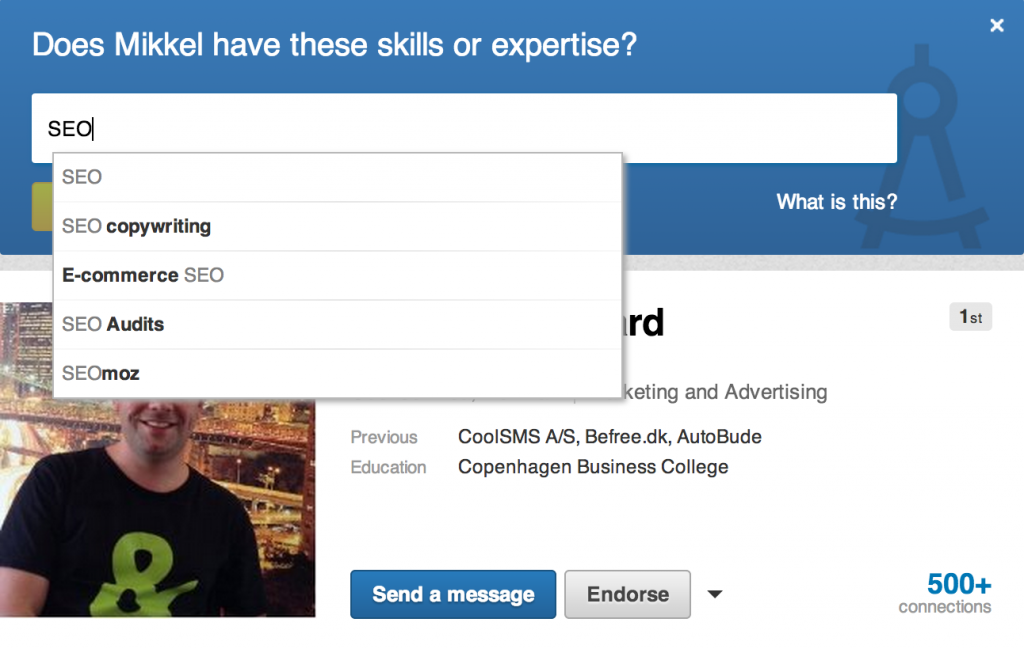Endorse Skills & Expertise on LinkedIN